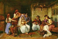 Kicenje Neveste   Paja Jovanovic (1859-1957)/ my favorite Serbian artist. .