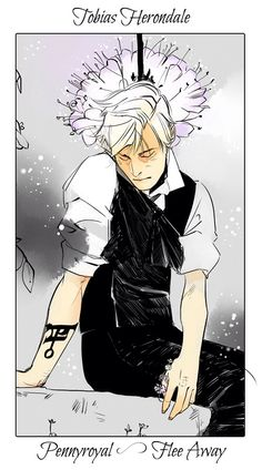 Tobias Herondale | Cassandra Jean's Flower Cards | Tales from the Shadowhunter Academy