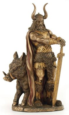 Freyr is the God of the Norse pantheon traditionally associated with farming, weather, and the male aspects of fertility. Of the Race of the Vanir, he came with his sister Freyja to live in Asgard, th