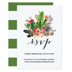 Shop Boho Watercolor Succulents Wedding RSVP II created by misstallulah. Watercolor Wedding, Floral Watercolor, Bohemian Theme, Boho, Wedding Rsvp, Our Wedding, Succulent Wedding Invitations, Watercolor Succulents, Wedding Website
