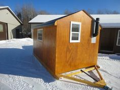 Kijiji: NEW ice huts with optional interiors Ice Fishing Huts, Boats For Sale, Finding A House, Find A Job, Kids House, Shed, Outdoor Structures, Outdoor Stuff, Outdoors