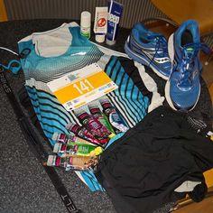 Marathon Kit Ready to go for the Morning.  Running top may change for the @therunningcompanyballarat singlet #run #strava #instarunner #runfit #healthy #run2live #geelong #gettingfit #TomTom #GORMarathon #GMHBA #ApolloBay #Lorne #44kms #KennettRiver #marathon #healthierlifegroup #halfmarathon  #melbourneinstarunners #runningdad #deepblue #2toms #saucony #lowbib by myitsol http://ift.tt/1IIGiLS