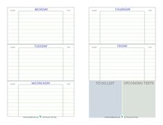 Day Planner Printable  Student Planners Student Daily Planner