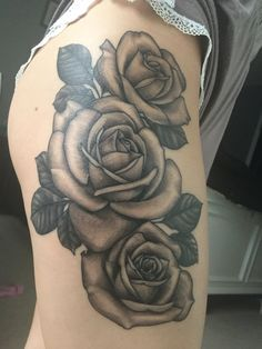 Figured I'd add my tattoo since I love rose tattoos and I'm sure many others do❤️ #rose # rosetattoo #roses #blackandwhite #neorosetattoo #traditionalrose #neotraditional #flowers #tattoo