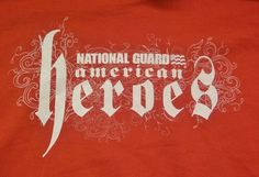 National Guard American Heroes T-Shirt Adult M Medium New without Tag