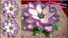 Dört Boyutlu Çiçek Lifi Anlatımlı baştan sona Yarn Flowers, Crochet Flowers, Crochet Granny, Irish Crochet, Crochet Flower Tutorial, Crochet Videos, Needlework, Diy And Crafts, Crochet Necklace