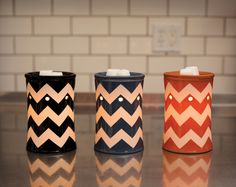 Chevron! Scentsy Warmers:)  Wickless, safe way to send amazing fragrance through your home!