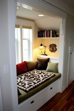 Window seat.  Note nice trim detail at upper corners.