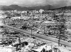 69th anniversary of Hiroshima bombing 1945: Atomic bomb damage in Hiroshima. (Photo by Hulton Archive/Getty Images)
