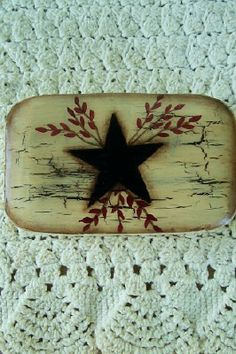 HP Primitive SoapHandpainted Star and Pipberries by Primgal, $4.50