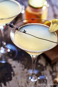Honey Bee Martini | Lavender Honey, Lemon & Vodka Skinny Cocktail | Recipe on FamilyFreshCooking.com @Marla Meridith