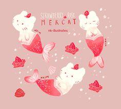 "nkim-doodles: ""Strawberry Rose Mercat. """