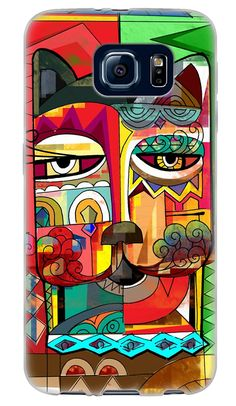 Amazon.com: Red, Green and Teal {Victorian Modern Cat Mural} Soft and Smooth Silicone Cute 3D Fitted Bumper Back Cover Gel Case for Samsung Galaxy S6: Cell Phones & Accessories