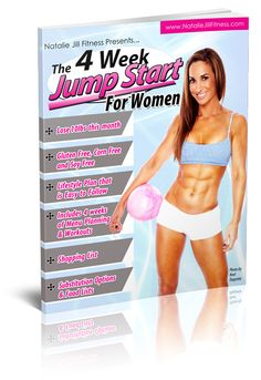 4 Week Jump Start for Women - Natalie Jill Fitness 4 Week Workout, Workout List, Health And Nutrition, Health Fitness, Lose Weight, Weight Loss, How To Get Abs, Gluten Free Diet, Way Of Life