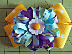 Stacked Flower Hairbow by MyNewPhilosophy on Etsy, $6.50