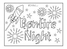 Guy Fawkes/Bonfire Night colouring etc