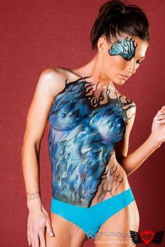 Fancy'S face & body art- one of the best atlanta face painters - body art Body Art Photography, Boudoir Photography, Tattoo Girls, Girl Tattoos, Hot Guys, Art Halloween, Tattoo Videos, Fun At Work, Art Model
