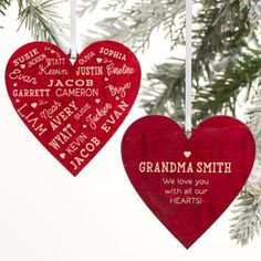 4be9b2f36e32e Close To Her Heart Message Personalized 2-Sided Wood Christmas Ornament In  Make A Family