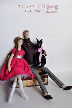 Melena Dolls by Elena Kolodko https://www.facebook.com/melenadolls Tilda Doll - Tildas - Handmade - Sewing - Tilda - Family