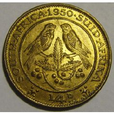 Union of South Africa : Farthing (Quarter Penny) of 1950 in UNCIRCULATED condition (MINT STATE) for R23.00