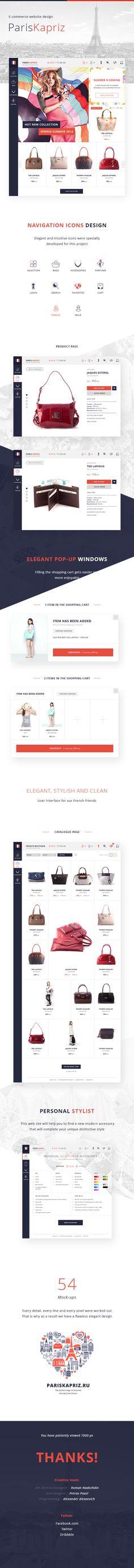 ParisKapriz e-commerce bags store on Behance