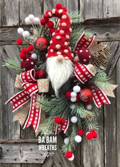 Best 12 Gnome Wreath, Christmas Gnome Wreath, Winter Wreath, Gnome Decor, Rustic Christmas Mr Gnome is so stunning in this collaboration of burlap Christmas Gnome, Christmas Door, Rustic Christmas, Winter Christmas, Christmas Ornaments, Christmas Ideas, Christmas Vacation, Christmas Quotes, Christmas Projects