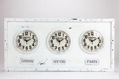 Relógio Paris, London e New York | A Loja do Gato Preto | #alojadogatopreto | #shoponline | referência 107864840