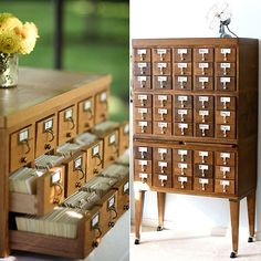 Currently Coveting: Vintage Card Catalogues