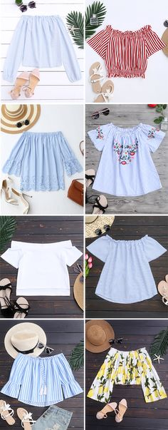 Top,Outfits,Blouses,Tees,T-shirt,Tank top,Crop top,Shirts,Off shoulder blouses,Off the shoulder tops,Halter top,Tunic tops,to find different top ideas @zaful Extra 10% OFF Code:ZF2017