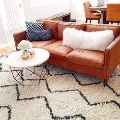 west elm leather sofa. looove