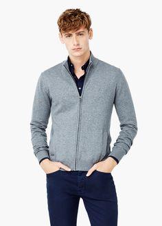 Cárdigan algodón cashmere -  Hombre | MANGO