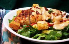 Southwestern Chicken Caesar Salad With Chipotle Dressing