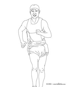 This Walk Athletics Coloring Page Is Perfect For Kids More Sports Pages On Hellokids
