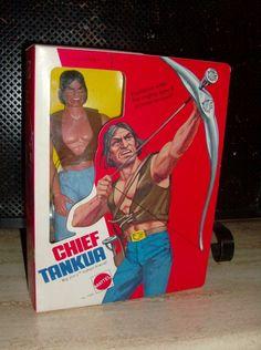Big Jim Chief Tankua 1975 Gi Joe, Retro Toys, Vintage Toys, Childhood Toys, Childhood Memories, Big Jim, Old School Toys, Tin Toys, Collector Dolls