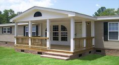 "New mobile home prices vary just like real homes. The word ""mobile home"" is still used, but it has been renamed officially since If you want to buy Mobile Home Porch, Mobile Home Exteriors, Mobile Home Renovations, Mobile Home Living, Remodeling Mobile Homes, Home Remodeling, Bathroom Remodeling, Front Porch Addition, Front Porch Design"