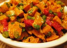 Sweet Potato Salad with Chili-Lime Dressing - sub the sweet potatoes for chicken