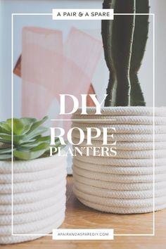 DIY Rope Planter | A Pair & A Spare