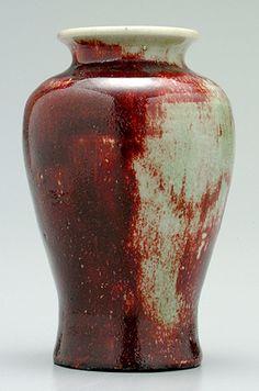 "Pisgah Forest copper red glazed vase, 6 1/2"", 1938"