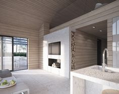 JOARC I ARCHITECTS • Holiday Villas • timber cladding interior architecture