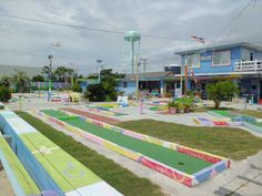 Classic Miniature Golf at the Patio Playground in Topsail Beach, North Carolina....memories!!