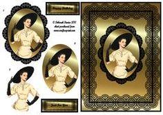 Elegant Lady On Black Lace