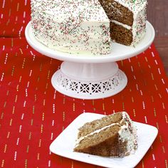 Ginger Cake with Maple Cream Cheese Frosting