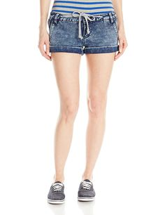 YMI Women's Knit Denim Short * This is an Amazon Affiliate link. Continue to the product at the image link.