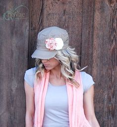 Distressed Rippled Cadet - with Blossoms!  modest clothing- Love pastels for Spring.