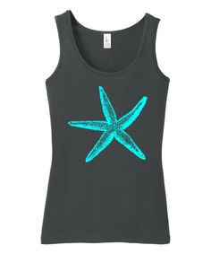 Love this Charcoal Starfish Tank on #zulily! #zulilyfinds