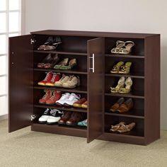 Furniture of America Grande Multi-Purpose & Shoe Cabinet - Walnut - YNJ-224WNT