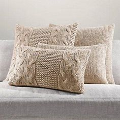 Italian Wool & Alpaca Knit Pillow Cover Collection whole collection for bedroom Crochet Pillows, Knitted Cushions, Knitted Blankets, Sweater Pillow, Knit Pillow, Cushion Pillow, Crochet Home, Knit Crochet, Cushion Covers