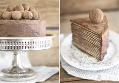 Chocolate Amaretto Crepe Cake.
