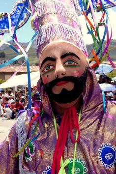Peruvian mask. Carnaval in Cajamarca
