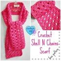 Crochet Shell N Chains Scarf - free pattern by Crochet for you via Saturday Link Party - 2 - Rebeckah's Treasures